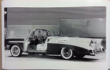 """12 By 18"""" Black & White Picture 1956 Chevrolet 2 door convertible Photo shoot"""