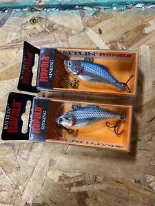 Rapala Sinking Rattlin Silver Blue RNR05 SB - Set Of 2