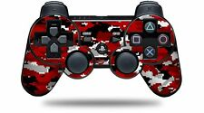 Skin for PS3 Controller WraptorCamo Digital Camo Red CONTROLLER NOT INCLUDED