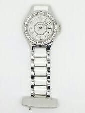 Nurse beautician fob watch by henley diamante bezel silver HF06. 1