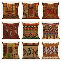 Ethnic Stripe Boho Cushion Cover Geometric Home Decorative Throw Pillow Covers
