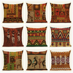 Ethnic Stripe Boho Cushion Cover Geometric Home Decorative Throw Pillow Covers