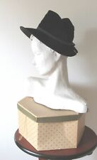 Vintage HENRI Original Velvet hat wirh Grosgrain Ribbon trim incl box