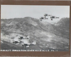 """ARMY PLANES AERIAL OVER KOLEKOLE PASS 1929? REAL PHOTOGRAPH ON 8X10"""" MAT"""