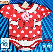 CUTE CARTOON MINNIE MOUSE BABY GIRL'S ROMPER SUIT! COTTON
