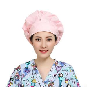 Caps Scrub Bouffant Hat Cap Fine Scrub Hat Banded Adjustable Head Hair Cover