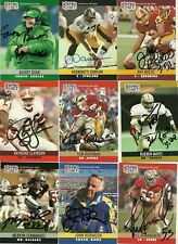 1990 NFL Pro Set JEFF BOSTIC Signed Card Lambeau Field REDSKINS CLEMSON HOGS