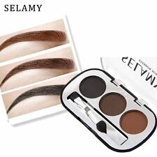 3 Colors Palette With Brush Eyebrow Powder Kits Brow Tattoo Minerals Pigments