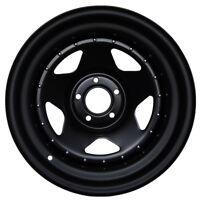 17x8 JOHN RED STEEL BLACK MATT RIMS WHEELS, 5x139,7 ET0, Dodge RAM 1500