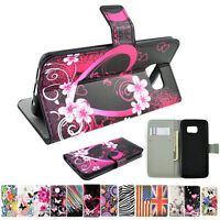 Premium Flip PU Leather Magnet Wallet Stand Cover Case for Huawei LG Sony Phones