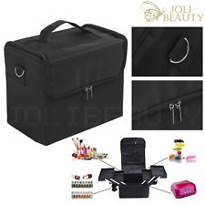 Extra Large Space Black Beauty Bag Make up Nail Tech Cosmetic Box Vanity Case
