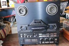 """Teac black face reel to reel tape deck recorder x2000R 10"""" and 7 1/2"""""""