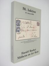 Harald Rauhut Briefmarken Auktion German Stamp Auction Catalog January 2000