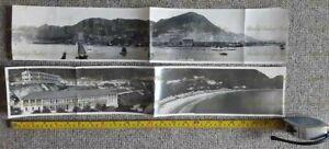 LARGE HONGKONG PANORAMIC PHOTOS HARBOUR & WESTERN POINT HONG KONG VINTAGE 1930S