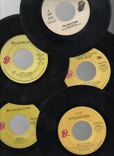 "Rolling Stones 10 Vintage Classic Rock 7"" 45rpm Singles"