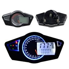 0-15000rpm Motorcycle Universal Multi-Function Speedometer Tachometer Odometer