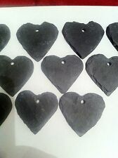 80 X Slate Heart Wedding Favours 6cm No Hole