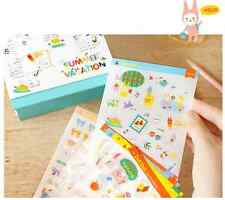 #04 cute deli girl cartoon pvc stickers notebook diary decoration 8 sheets