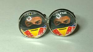 Marc Marquez Moto GP Champion Helmet Cufflinks, Repsol Honda Motorbike Rider