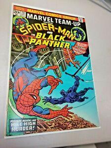 Marvel Team-Up #20 Spider-Man and Black Panther Nice High Grade VF++ Stegron