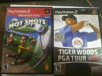 Tiger Woods PGA tour 07 Hot Shots Golf 3 ps2 wholesale video game lot / bundle.