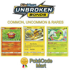 Pokemon Sun & Moon Unbroken Bonds Common, Uncommon & Rare Card Selection