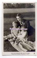 r1710 - Duchess of Kent with her children Edward & Alexandra - postcard