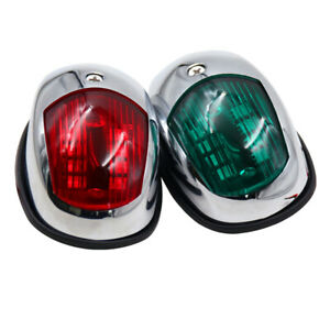 Boat LED Navigation Lights Red and Green, Marine Sailing Signal Lamp for Bow