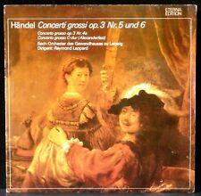 Händel Haendel Leppard Leipzig Concerti grossi op 3 / 4-6 Eterna LP NM, CV EX