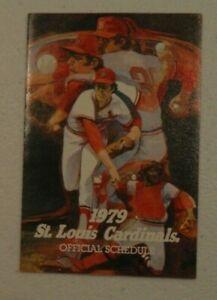 1979 St Louis Cardinals Baseball Pocket Schedule Busch Bavarian Beer