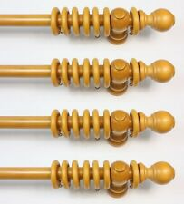 House BULK PACK 4 x 22mm dia Wooden Natural / Pine Curtain Poles 200cm (6'6')