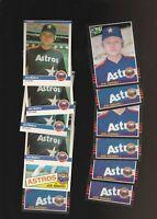 Joe Niekro Astros Baseball 18 Card Lot Fleer Donruss Leaf Topps