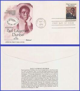 USA3 #1554 U/A FLEETWOOD FDC   Paul Laurence Dunbar Black Heritage