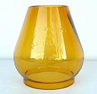 Handlan St. Louis Amber Glass W.T. Kirkman No.364 Railroad Lantern Globe