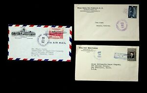 HONDURAS 1939-61 SET OF 3 COVERS W/ 3v, 1 AIRMAIL FROM TEGUCIGALPA TO USA