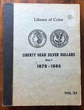 VINTAGE LIBRARY of COINS MORGAN SILVER DOLLARS ALBUM part 1, vol. 23  - NO COINS