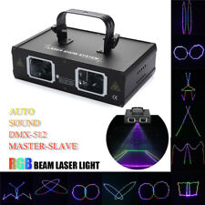 2 Len RGB Beam LED Projector Light DMX Stage Lighting Party Club DJ Show Lamp