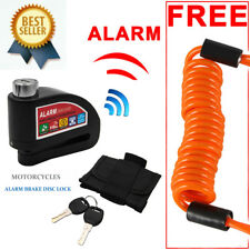 Anti Theft Motorcycle Alarm Disc Lock Brake Motorbike + Free Reminder Cable 1.5