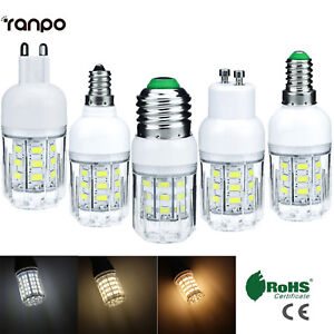 7W E27 E12 E26 E14 G9 B22 LED Corn Light Bulb 5730 SMD Cool Warm White Lamp SS29