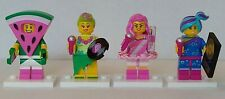 LEGO Minifigures Lego Movie Series 2 Lot of 4 Pre-Owned