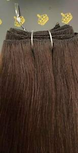 MONGOLIAN DOUBLE DRAWN 20'' 150g WEFT HUMAN HAIR EXTENSIONS SHADE #4