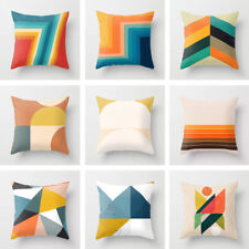 "18"" Geometric Polyester Cushion Pillow Case Cover Home Sofa Waist Car Decor"