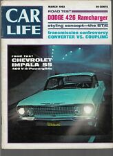 CAR LIFE MAGAZINE MARCH 1963 DODGE 426 RAMCHARGER