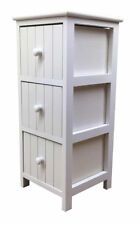 Quality White Bathroom Cabinet Slim 3Drawer Vanity Storage Unit Wooden Furniture