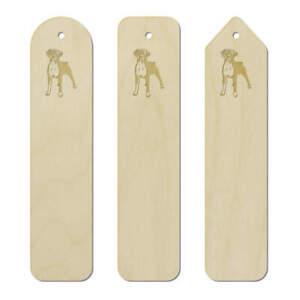 3 x 'Boxer Dog' Birch Bookmarks (BK00012893)