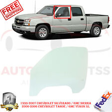 Front Driver Left Side Door Glass For 99-07 SILVERADO/SIERRA / 00-06 TAHOE/YUKON