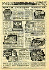 1929 PAPER AD Metalcraft Zeppelin Construction Toy Spirit Of St Louis Flyer