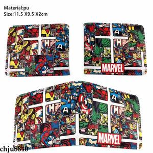 Marvel Iron Man Unisex PU Wallet Bifold Short Purse Card Holder Coinbag Gifts