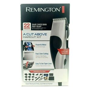 Hair Clippers 22 Piece Haircut Kit W Case Remington A Cut Above U.s. 110v 60hz