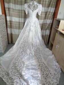(B900)Edles Damen Braut Standesamt Abend Kleid  GR: GR: 36
